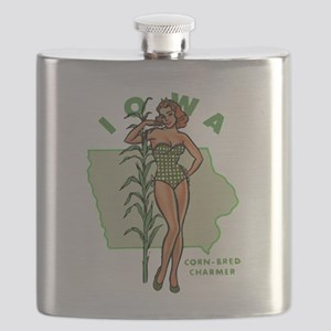 Faded Iowa Pinup Flask