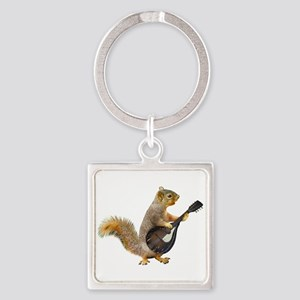 Squirrel Mandolin Keychains