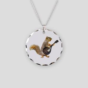 Squirrel Mandolin Necklace