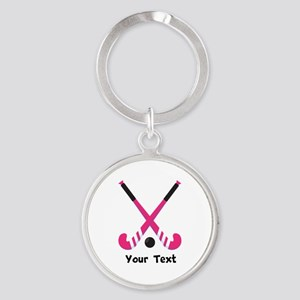 Personalized Field Hockey Round Keychain 73fb936d1
