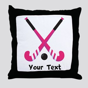 Personalized Field Hockey Throw Pillow