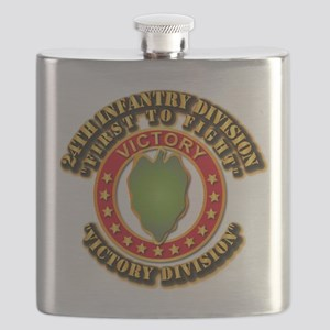 Army - 24th INF Div - DUI Flask
