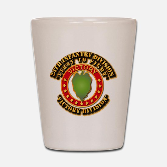 Army - 24th INF Div - DUI Shot Glass