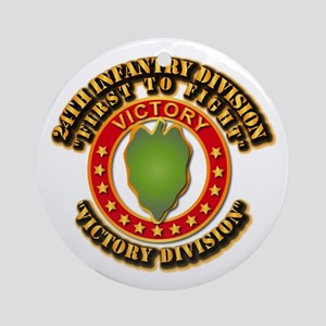 Army - 24th INF Div - DUI Ornament (Round)
