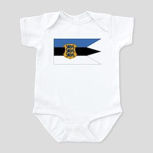 Estonia Naval Ensign Infant Bodysuit
