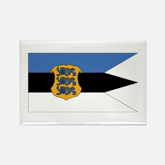 Estonia Naval Ensign Rectangle Magnet (10 pack)