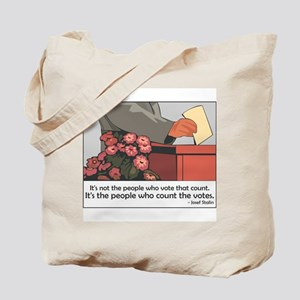 """""""Stalin Voting Quote"""" Tote Bag"""