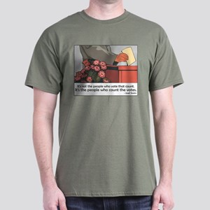"""Stalin Voting Quote"" Dark T-Shirt"