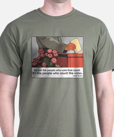 """""""Stalin Voting Quote"""" T-Shirt"""