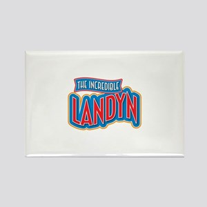 The Incredible Landyn Rectangle Magnet