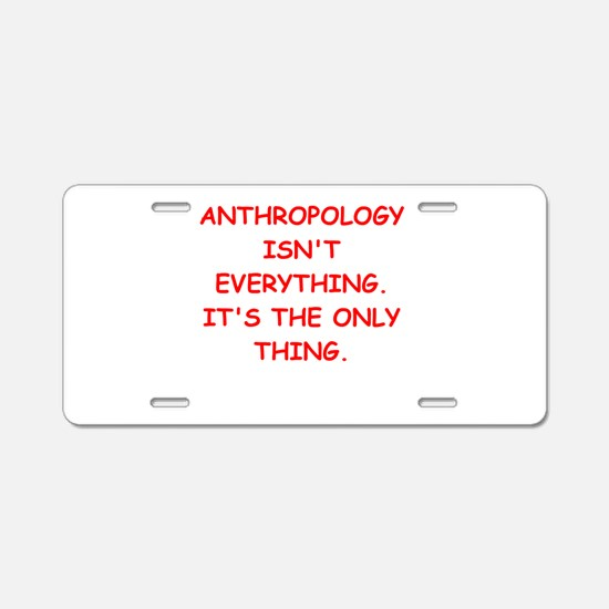 anthropology Aluminum License Plate