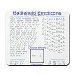 Battlefield Emoticons Mousepad