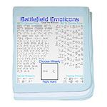 Battlefield Emoticons baby blanket