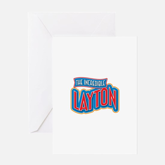 The Incredible Layton Greeting Card