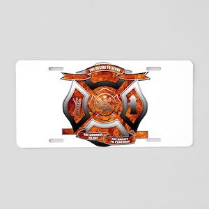 FD Seal Aluminum License Plate