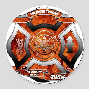 FD Seal Round Car Magnet