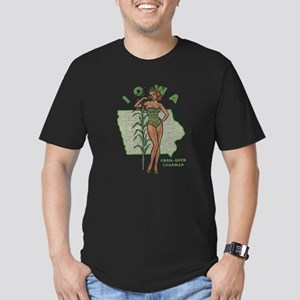 Faded Iowa Pinup Men's Fitted T-Shirt (dark)