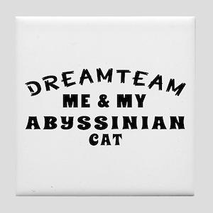 Abyssinian Cat Designs Tile Coaster