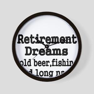 Retirement Dreams Wall Clock