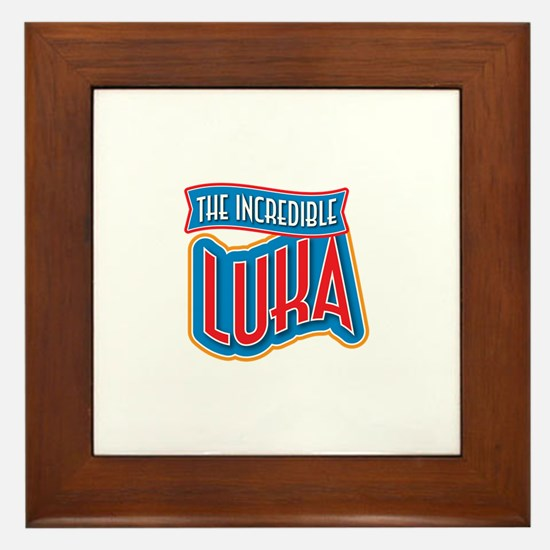 The Incredible Luka Framed Tile