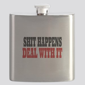 Shit Happens Deal With It Flask