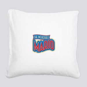 The Incredible Mario Square Canvas Pillow