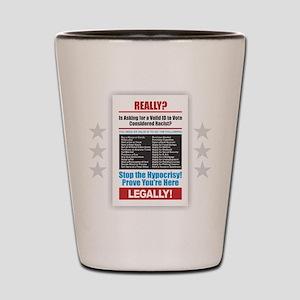 Voter ID Shot Glass