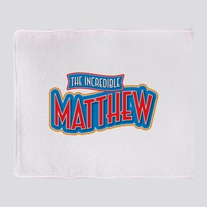 The Incredible Matthew Throw Blanket