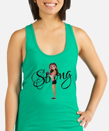 Strong Fit Girl Racerback Tank Top