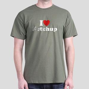I Love Ketchup Dark T-Shirt