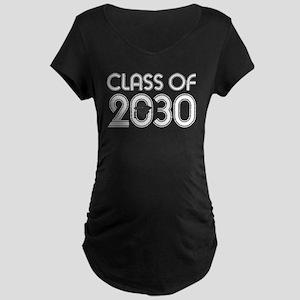Class of 2030 Grad Maternity Dark T-Shirt