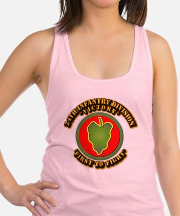 Army - 24th IN DIV - SSI Racerback Tank Top