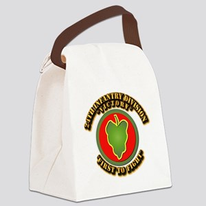 Army - 24th IN DIV - SSI Canvas Lunch Bag
