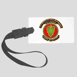 Army - 24th IN DIV - SSI Large Luggage Tag