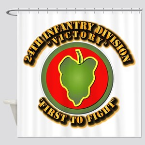 Army - 24th IN DIV - SSI Shower Curtain