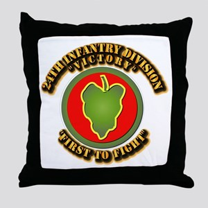 Army - 24th IN DIV - SSI Throw Pillow