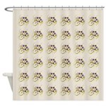 Atom Flowers #20 Shower Curtain