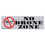 No Drone Zone Bumper Sticker