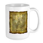 Celtic Letter W Large Mug