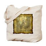 Celtic Letter W Tote Bag