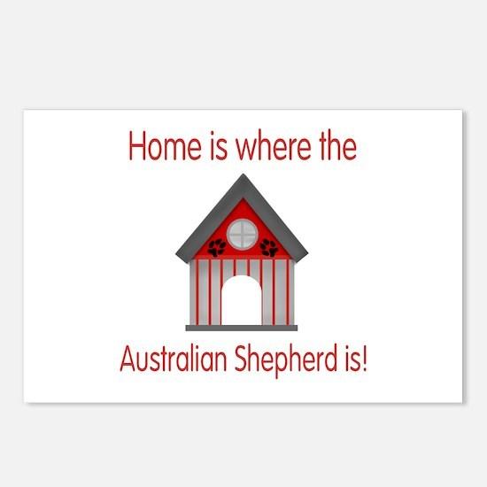 Home...Australian Shepherd is Postcards (Package o