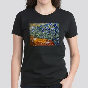 Corgi in iris Women's Dark T-Shirt