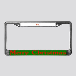 Sleigh With GIfts License Plate Frame