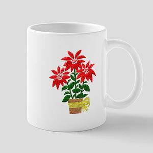 Christmas or Holiday Poinsetta Mug