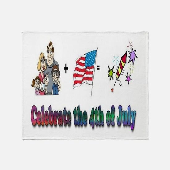 Celebrate 4th Throw Blanket