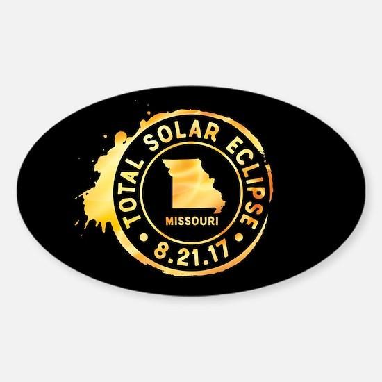 Eclipse Missouri Sticker (Oval)