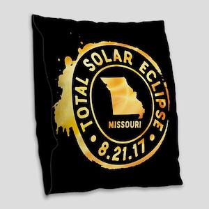 Eclipse Missouri Burlap Throw Pillow