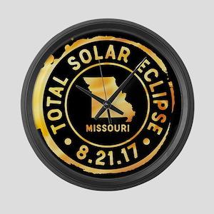Eclipse Missouri Large Wall Clock