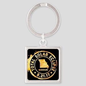 Eclipse Missouri Square Keychain
