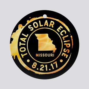 Eclipse Missouri Round Ornament